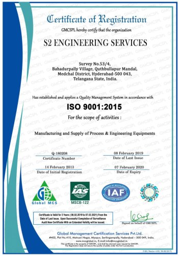 s2 engineering services iso9001 cert