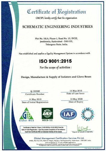 schematic engineering industries iso9001 cert